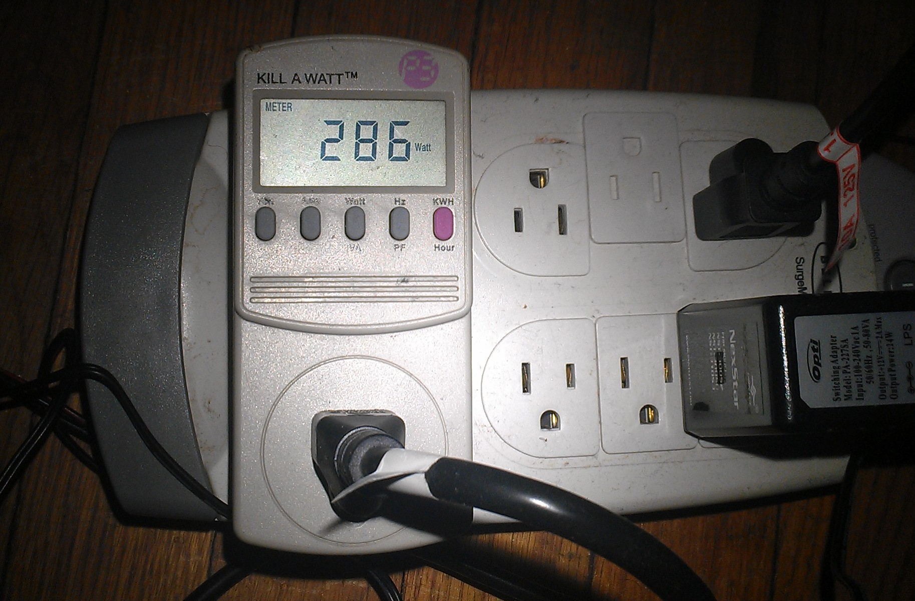 Fun With Watt Meters Green Foldinghome Wiring Tools Ppt My Dirty Old P3 Kill A Meter