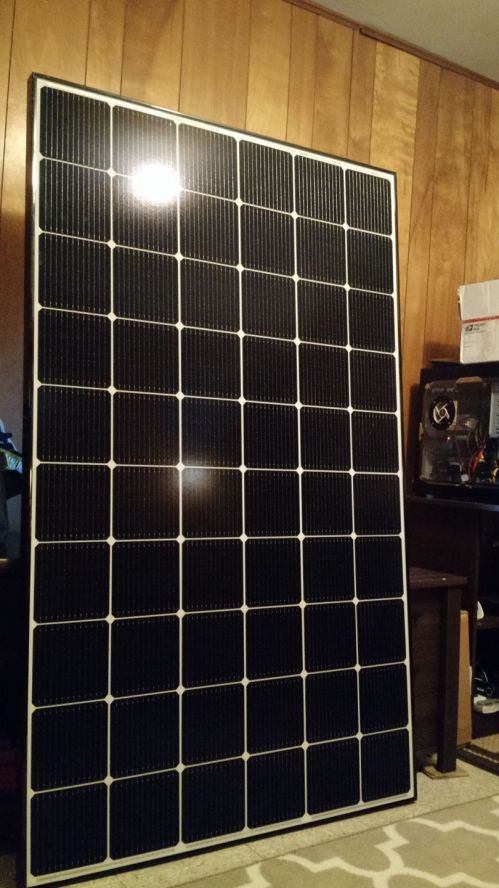 Solar Panel in Basement