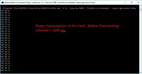 1070 card-level power consumption (before tuning)