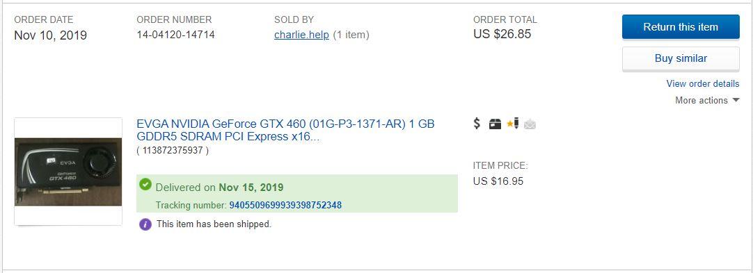 GTX 460 Purchase